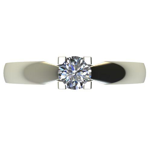Годежен Пръстен бяло злато с диамант Thin 0,25 ct. 2287 a