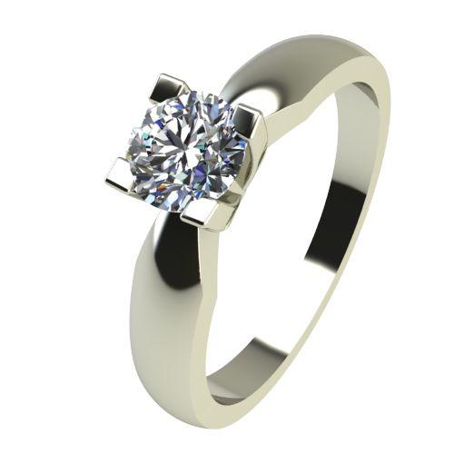 Годежен Пръстен бяло злато с диамант Thin 0,25 ct. 2287