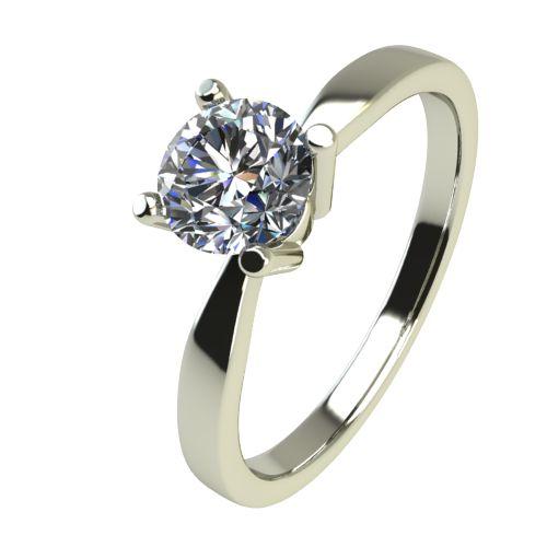 Годежен Пръстен бяло злато с диамант Thin 0,25 ct. 2324