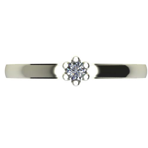 Годежен Пръстен бяло злато с диамант Tulip 0,04 ct. 2329 a