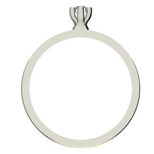 Годежен Пръстен бяло злато с диамант Tulip 0,04 ct. 2329 b