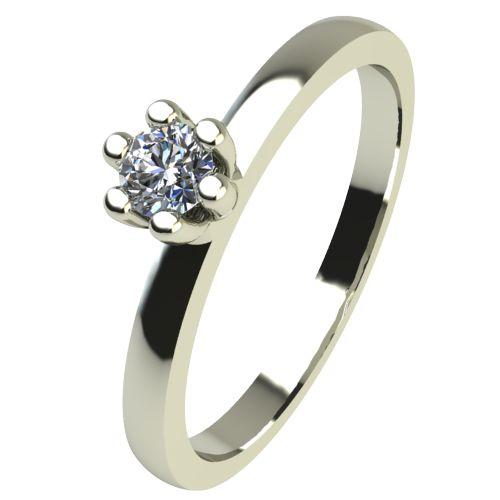 Годежен Пръстен бяло злато с диамант Tulip 0,04 ct. 2329