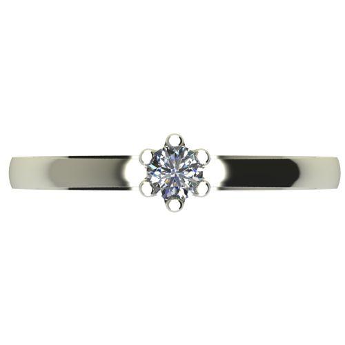 Годежен Пръстен бяло злато с диамант Tulip 0,07 ct. 2330 a