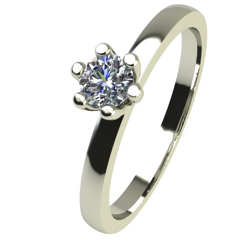 Годежен Пръстен бяло злато с диамант Tulip 0,07 ct. 2330
