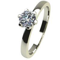 Годежен Пръстен бяло злато с диамант Tulip 0,12 ct. 2331