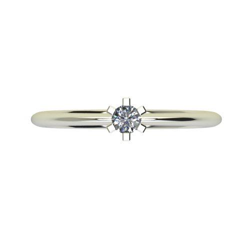 Годежен Пръстен бяло злато с диамант Cante 0,04 ct. 2349 a