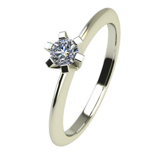 Годежен Пръстен бяло злато с диамант Cante 0,04 ct. 2349