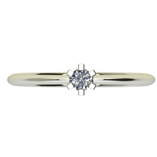 Годежен Пръстен бяло злато с диамант Cante 0,07 ct. 2350 a
