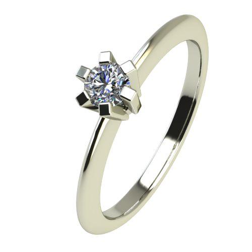 Годежен Пръстен бяло злато с диамант Cante 0,07 ct. 2350