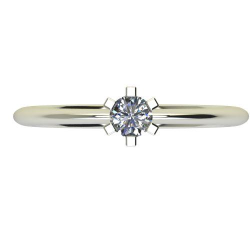 Годежен Пръстен бяло злато с диамант Cante 0,12 ct. 2351 a
