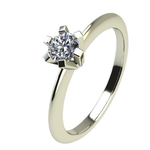 Годежен Пръстен бяло злато с диамант Cante 0,12 ct. 2351