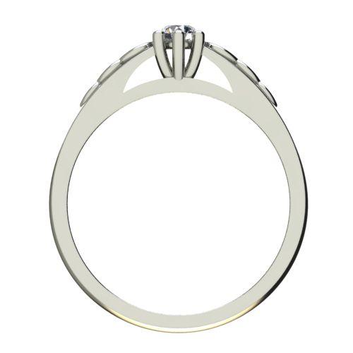 Годежен Пръстен бяло злато с диамант Cast 0,25 ct. 2361 b