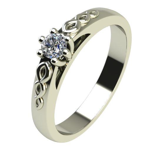 Годежен Пръстен бяло злато с диамант Cast 0,25 ct. 2361