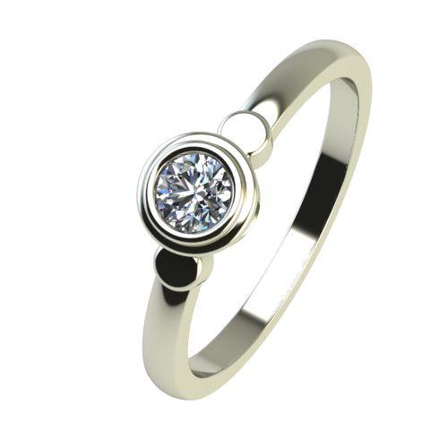 Годежен Пръстен бяло злато с диамант Moon 0,12 ct. 2364