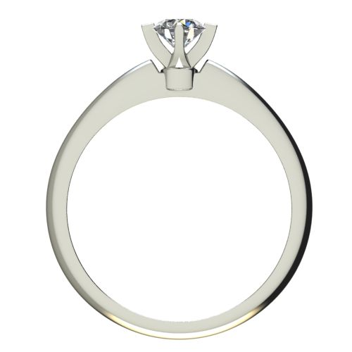 Годежен Пръстен бяло злато с диамант Piece 0,12 ct. 2356 a