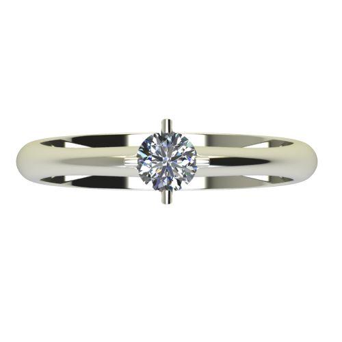 Годежен Пръстен бяло злато с диамант Piece 0,12 ct. 2356 b