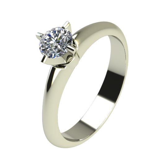 Годежен Пръстен бяло злато с диамант Piece 0,12 ct. 2356