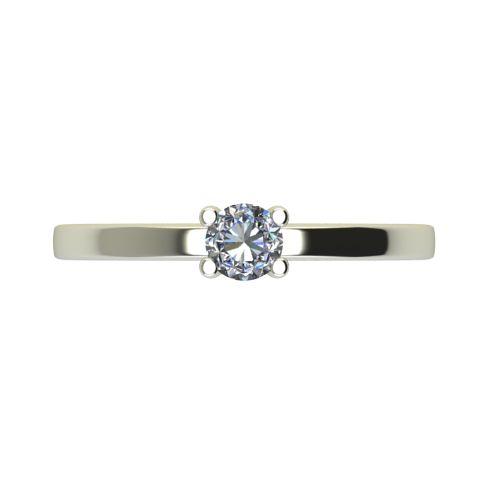 Годежен Пръстен бяло злато с диамант Piece 0,12 ct. 2358 a