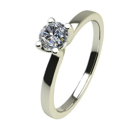 Годежен Пръстен бяло злато с диамант Piece 0,12 ct. 2358