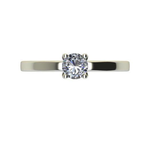 Годежен Пръстен бяло злато с диамант Piece 0,17 ct. 2359 a