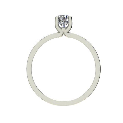 Годежен Пръстен бяло злато с диамант Piece 0,17 ct. 2359 b