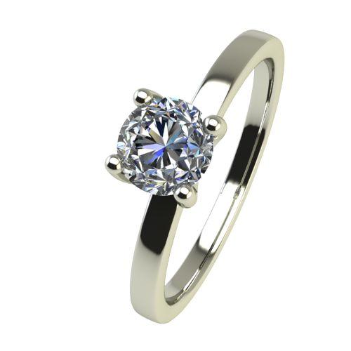 Годежен Пръстен бяло злато с диамант Piece 0,17 ct. 2359