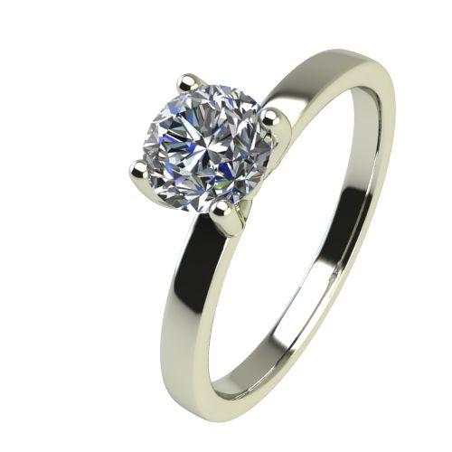 Годежен Пръстен бяло злато с диамант Piece 0,25 ct. 2360