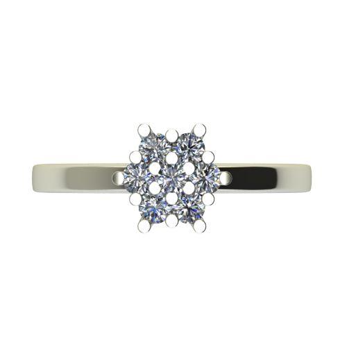 Годежен Пръстен бяло злато с диамант Snowy 0,21 ct. 2354 a