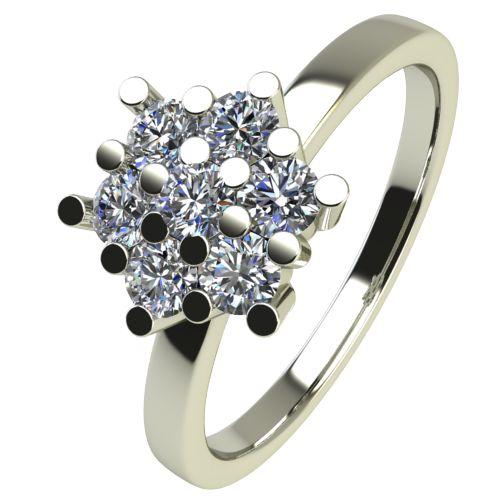 Годежен Пръстен бяло злато с диамант Snowy 0,21 ct. 2354