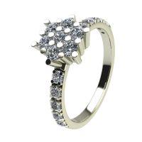 Годежен Пръстен бяло злато с диамант Snowy 0,36 ct. 2355