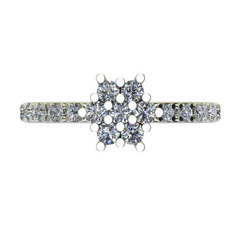 Годежен Пръстен бяло злато с диамант Snowy 0,36 ct. 2355 a