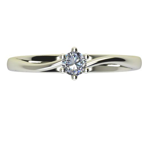 Годежен Пръстен бяло злато с диамант Starlet 0,04 ct. 2334 a