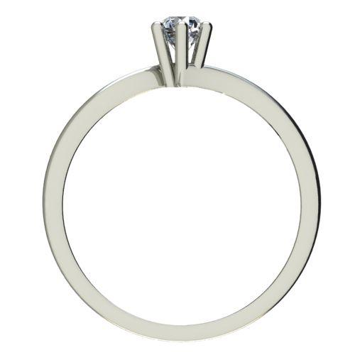 Годежен Пръстен бяло злато с диамант Starlet 0,04 ct. 2334 b