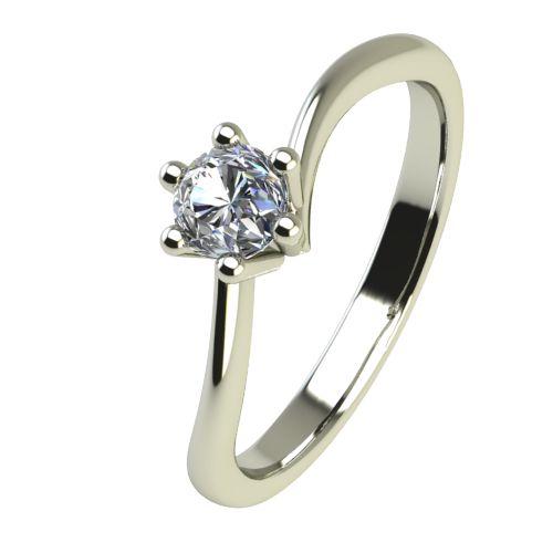 Годежен Пръстен бяло злато с диамант Starlet 0,04 ct. 2334
