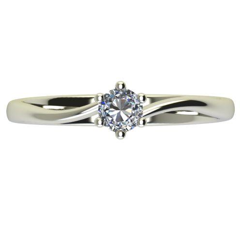 Годежен Пръстен бяло злато с диамант Starlet 0,07 ct. 2335 a