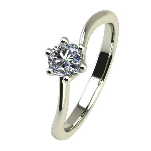 Годежен Пръстен бяло злато с диамант Starlet 0,07 ct. 2335