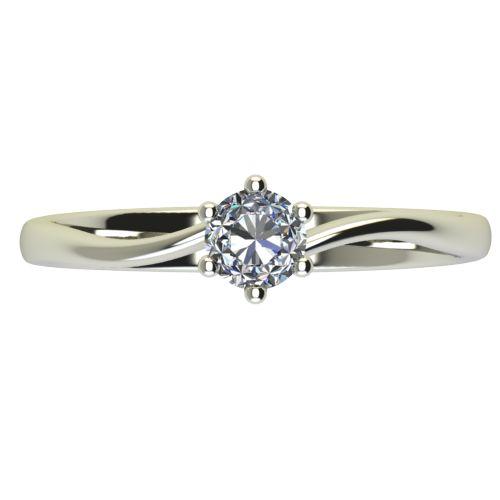 Годежен Пръстен бяло злато с диамант Starlet 0,12 ct. 2336 a