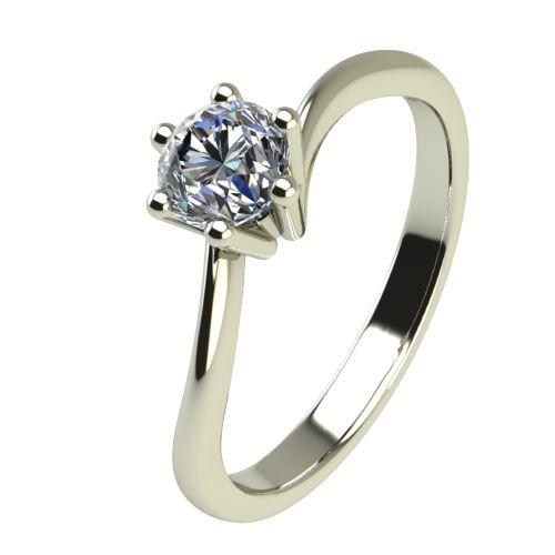 Годежен Пръстен бяло злато с диамант Starlet 0,12 ct. 2336
