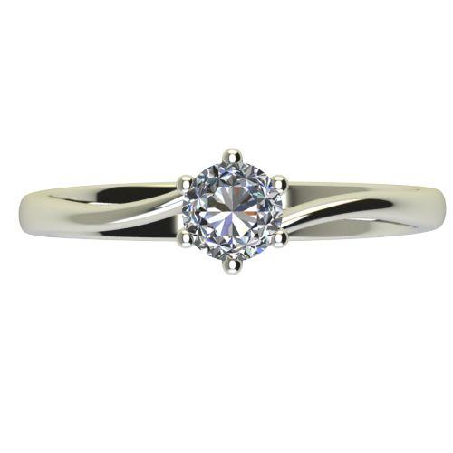 Годежен Пръстен бяло злато с диамант Starlet 0,17 ct. 2337 a