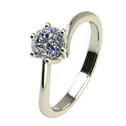 Годежен Пръстен бяло злато с диамант Starlet 0,17 ct. 2337