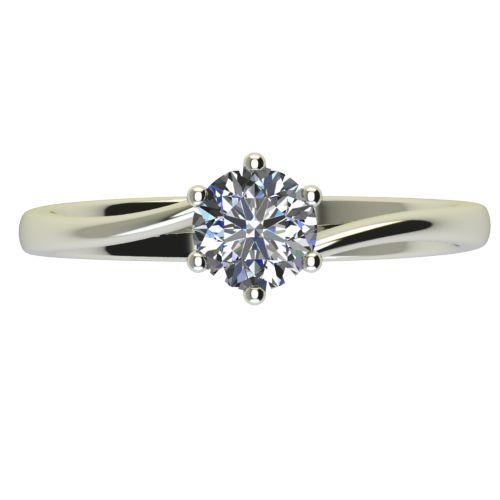 Годежен Пръстен бяло злато с диамант Starlet 0,25 ct. 2338 a