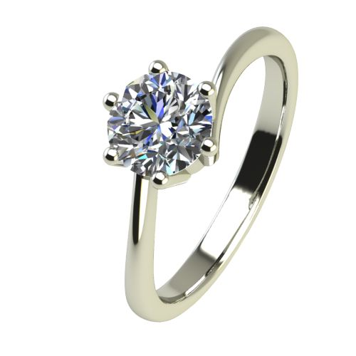 Годежен Пръстен бяло злато с диамант Starlet 0,25 ct. 2338