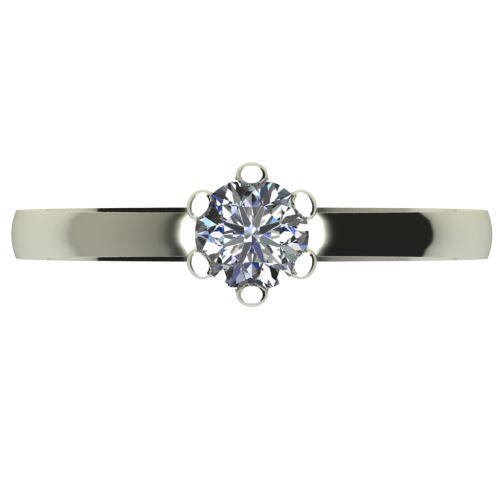 Годежен Пръстен бяло злато с диамант Tulip 0,17 ct. 2332 a