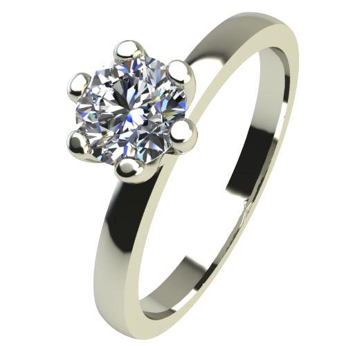 Годежен Пръстен бяло злато с диамант Tulip 0,17 ct. 2332