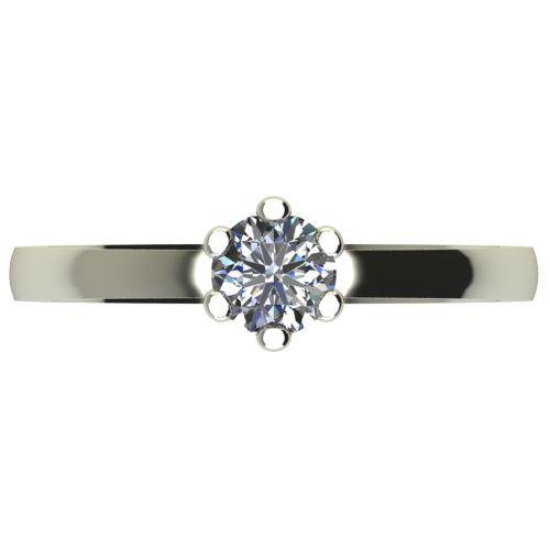 Годежен Пръстен бяло злато с диамант Tulip 0,25 ct. 2333 a