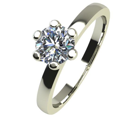 Годежен Пръстен бяло злато с диамант Tulip 0,25 ct. 2333