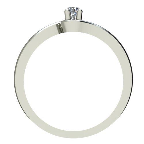 Годежен Пръстен бяло злато с диамант Unity 0,04 ct. 2339 a