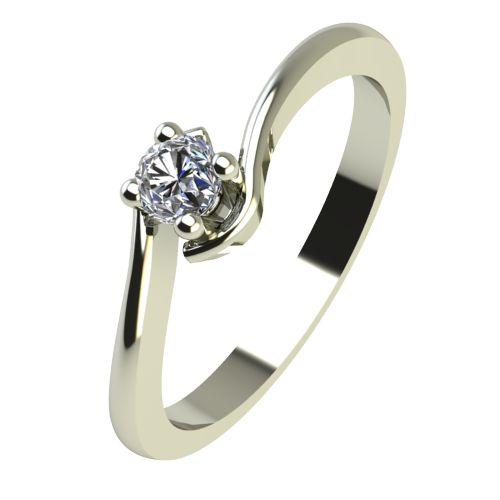 Годежен Пръстен бяло злато с диамант Unity 0,04 ct. 2339