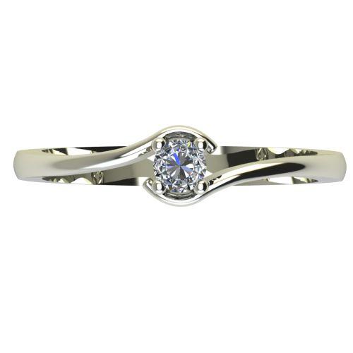Годежен Пръстен бяло злато с диамант Unity 0,07 ct. 2340 a