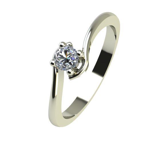 Годежен Пръстен бяло злато с диамант Unity 0,07 ct. 2340